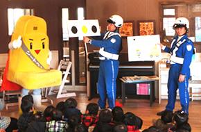 神戸市内の保育園で「交通安全教室」を開催しました。