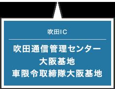 吹田IC 吹田通信管理センター 大阪基地 車限令取締隊大阪基地